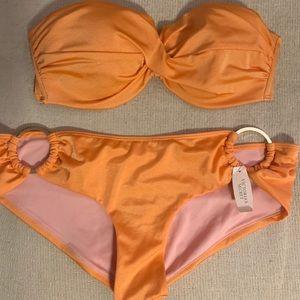 Victoria's Secret Strapless Bikini/Cheeky Bottoms